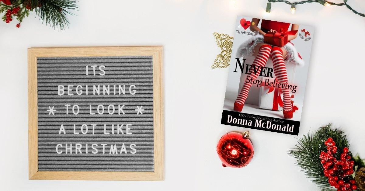 Book Pre-Order Meme for Never Stop Believing an upcoming holiday romance